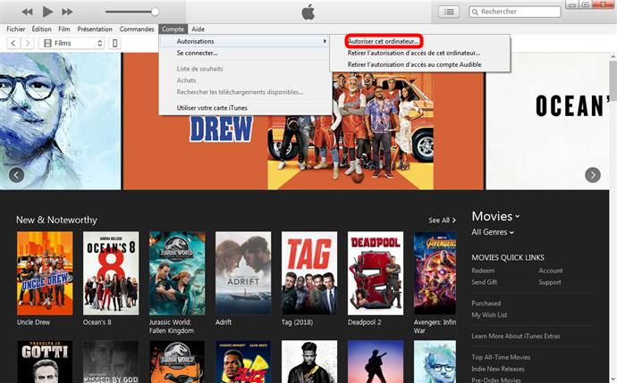 Je ne peux pas me connecter à l'iTunes Store