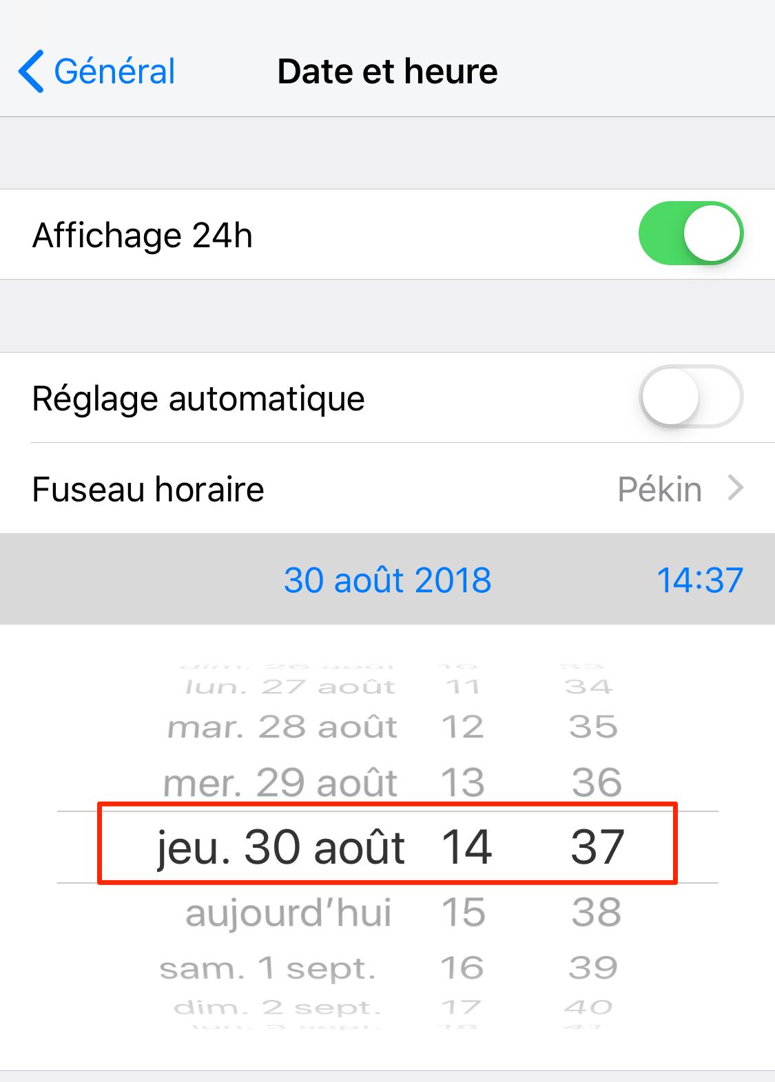 Pop-up proposant une mise à jour iOS 12/12.1.1 sans cesse