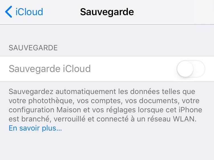 Problèmes iCloud – sauvegarde iCloud ne fonctionne pas