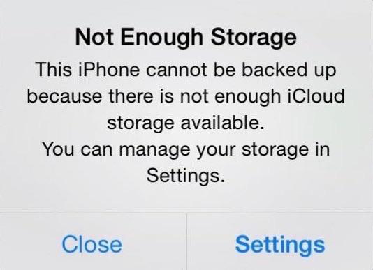 Problèmes d'iCloud - 4.Espace de stockage iCloud saturé