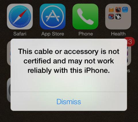 Problèmes courants d'iOS 8 - impossible d'être chargé ou connecté par le câble