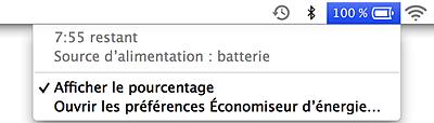 Optimiser la vie de la batterie de MacBook - Vérifier l'état de la batterie