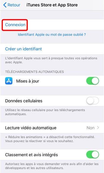 Identifiant Apple pour App Store