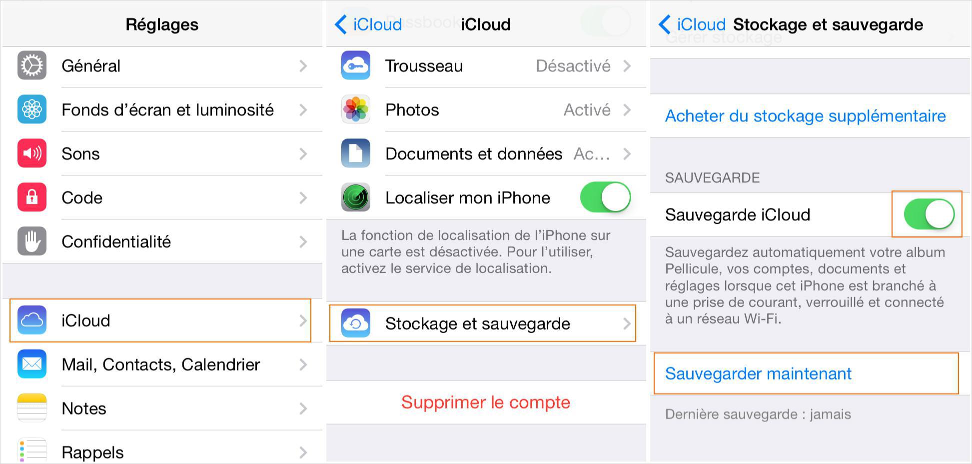 Comment sauvegarder votre iPhone via iCloud
