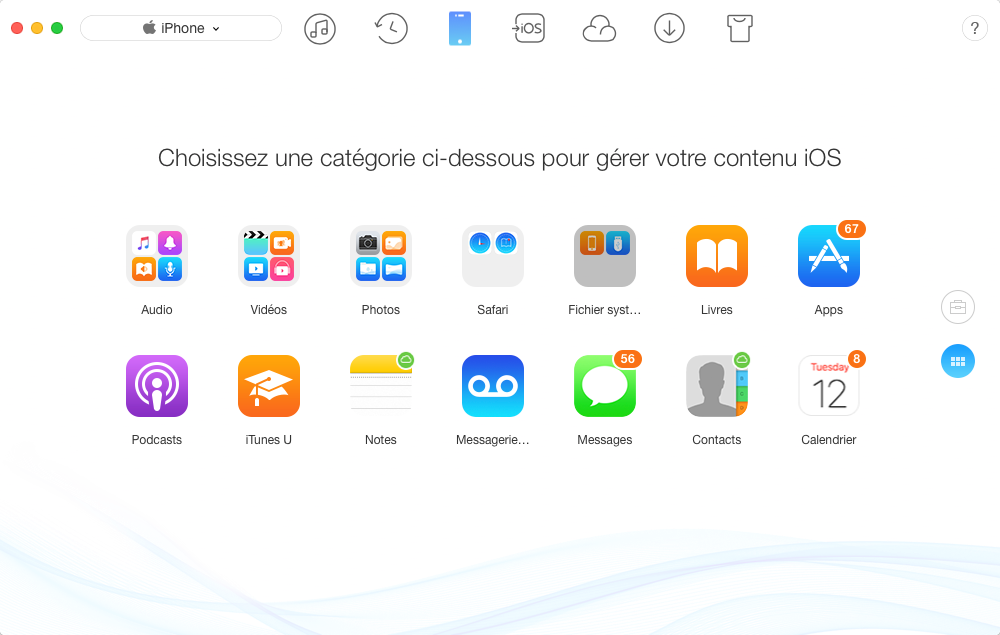 Comment sauvegarder iPhone via AnyTrans