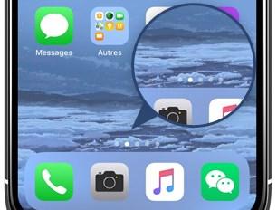 Organisez les icônes sur différentes pages de votre iPhone