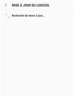 Téléchargement de la mise à jour Samsung