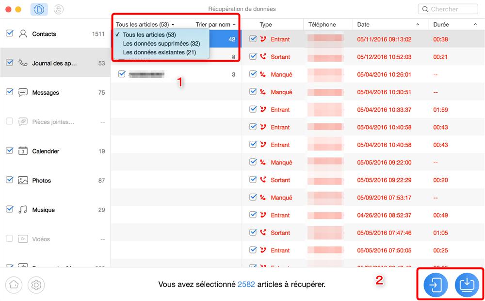 Récupération des données sur Samsung A - étape 3