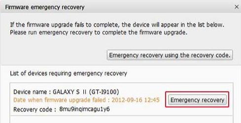 Restaurer données Samsung A depuis Kies - étape 3 (Source: Samsung Kies)