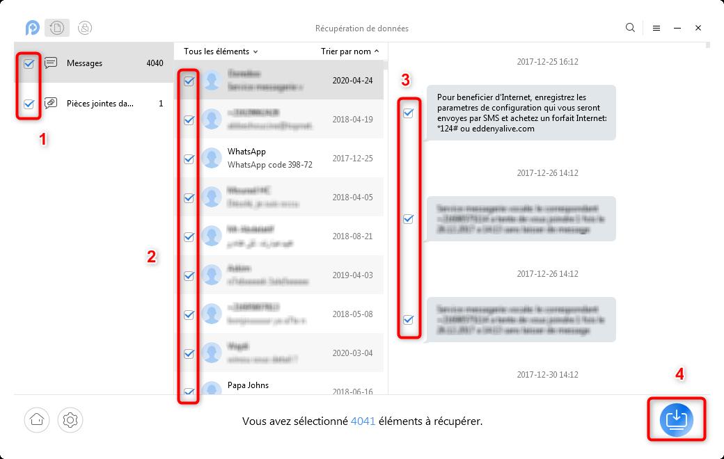 Récupération des messages OnePlus