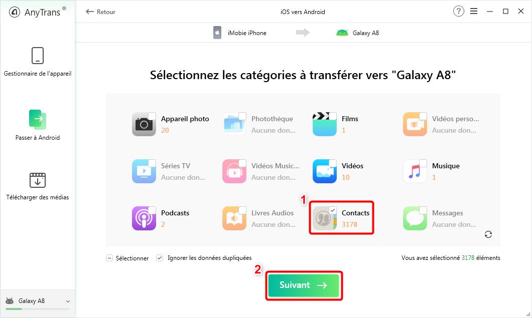 Comment récupérer les contacts iPhone sur Samsung - 3