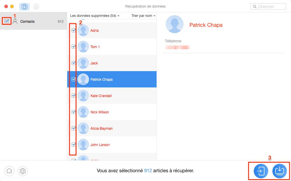 Récupérer les contacts supprimés sur Google – étape 3