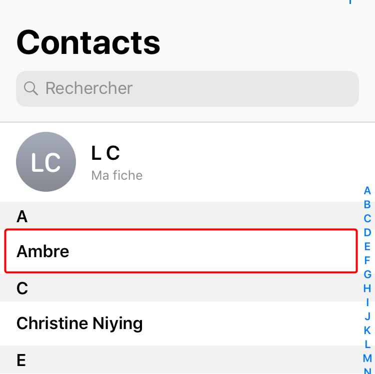 Récupérer les contacts disparus sur iPhone X