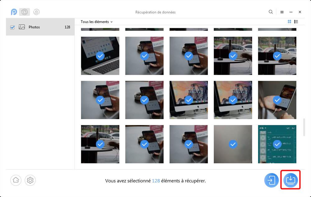 Restaurer les photos supprimées à partir Samsung J - étape 3