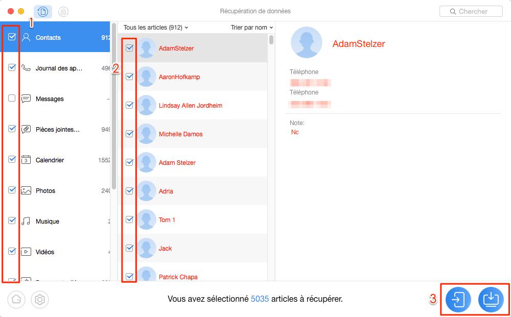 Moyen de retrouver les données Android après restauration d'usine - étape 3
