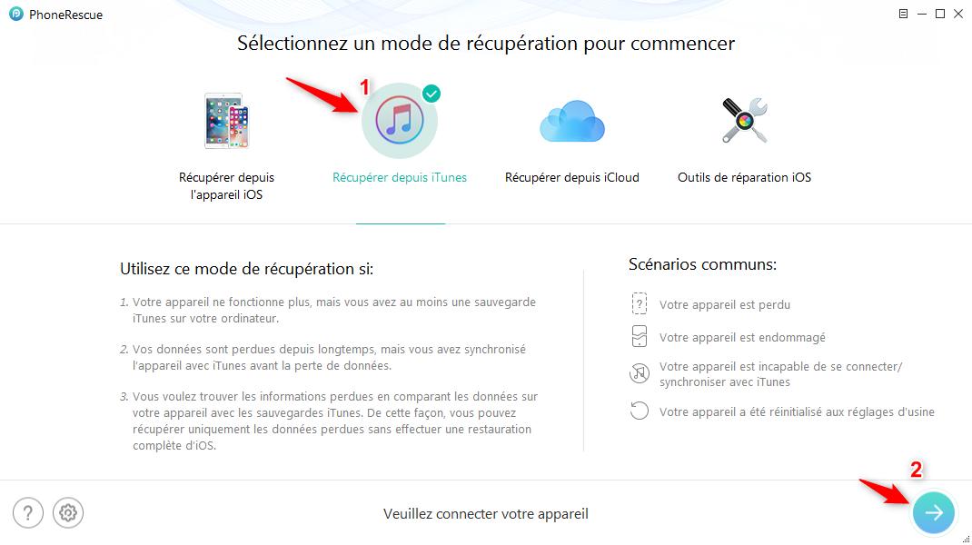 Récupérer les données perdues iPhone sous iOS 12 facilement