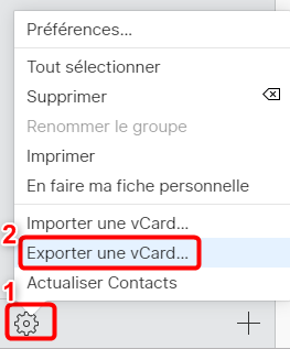 Exporter les Contacts iPhone sur Android via iCloud.com - 2