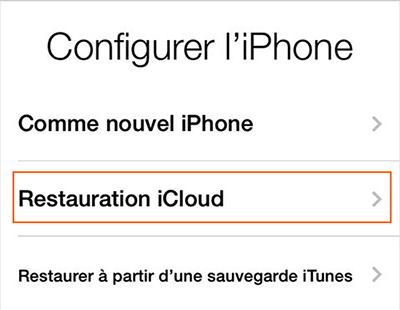 Restaurer des données perdues après la mise à jour iOS 9 depuis une sauvegarde iCloud