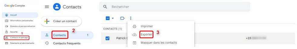 Récupérer des numéros de téléphone supprimés sur Gmail