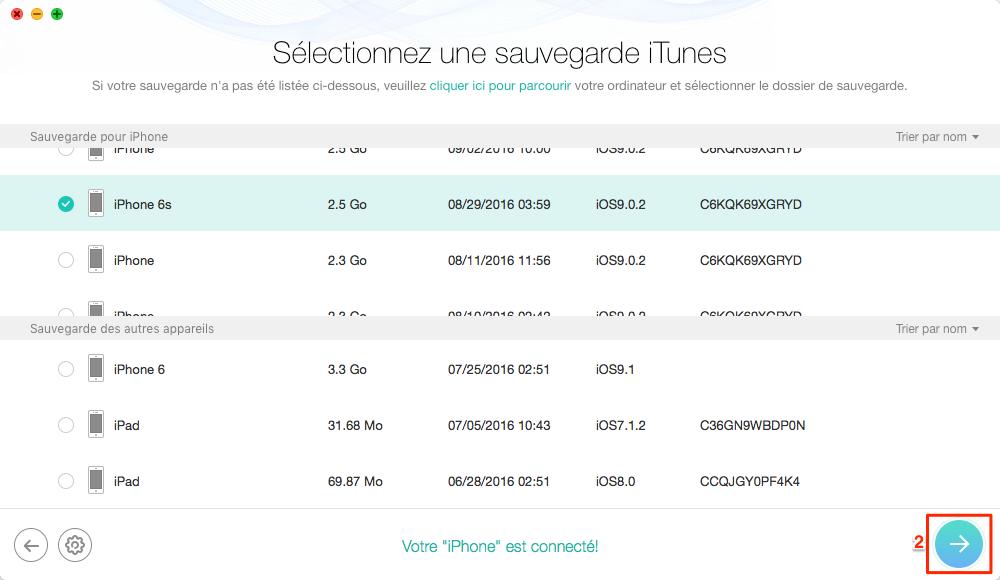Comment récupérer les messages iPhone X depuis la sauvegarde iTunes