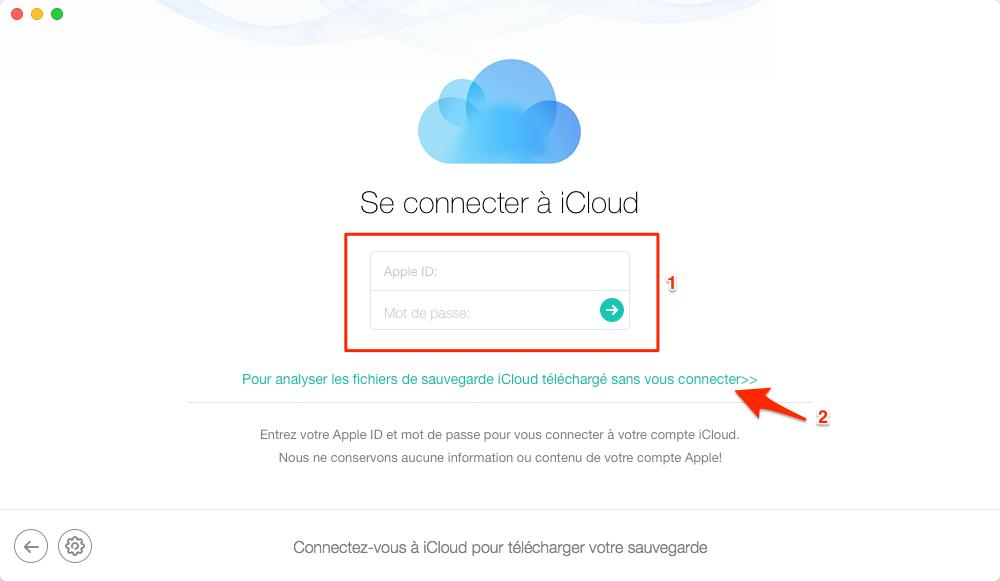 Récupérer vos messages à partir des sauvegardes iCloud – étape 2