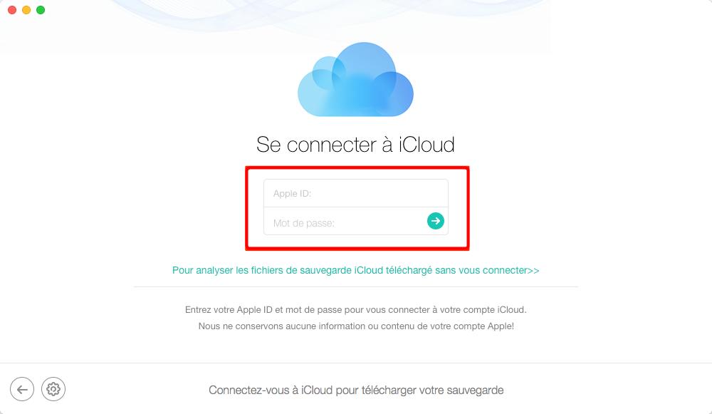 Comment récupérer les notes iPhone X depuis iCloud – étape 2