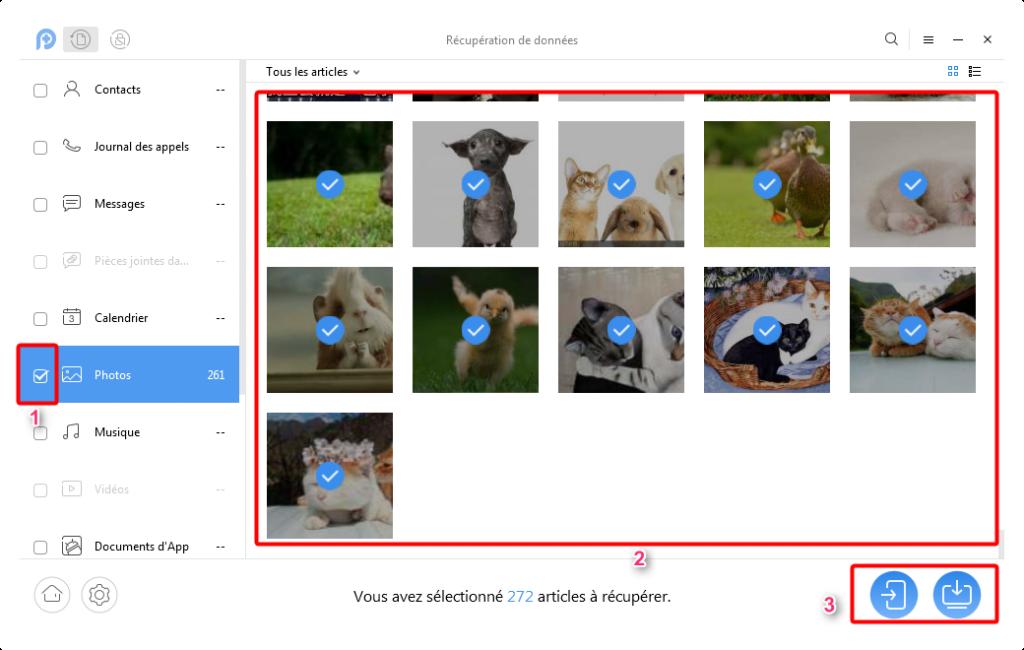 Récupération rapide de photos supprimées sur Motorola – étape 2