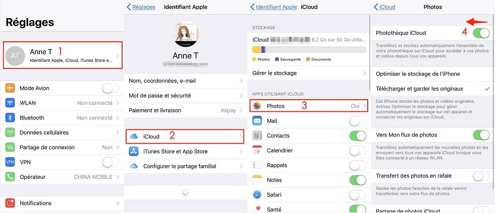 Comment désactiver photo iCloud