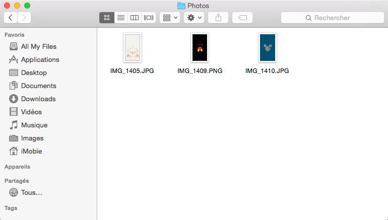 Retrouver les photos iPhone sur Mac - étape 4