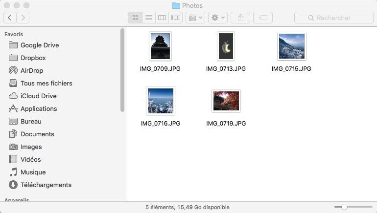 Récupérer photos iPhone sur PC - étape 4