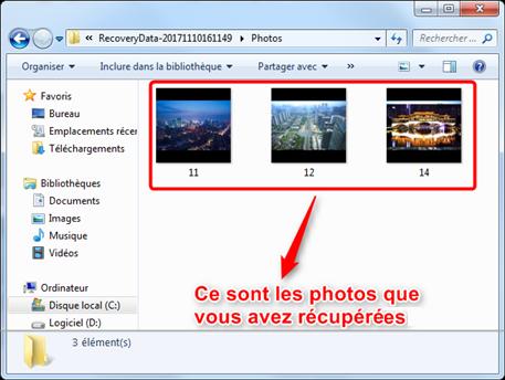 Récupération de photos supprimées iPhone X terminée