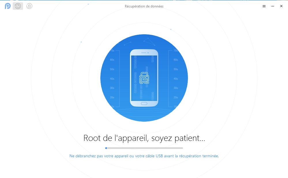 Récupération rapide de photos supprimées sur tablette Sony - étape 2