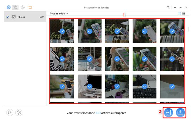 Comment faire pour récupérer l'image supprimée d'Android - étape 2