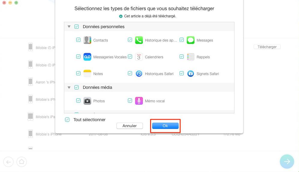 Comment récupérer rappels depuis iCloud – étape 3