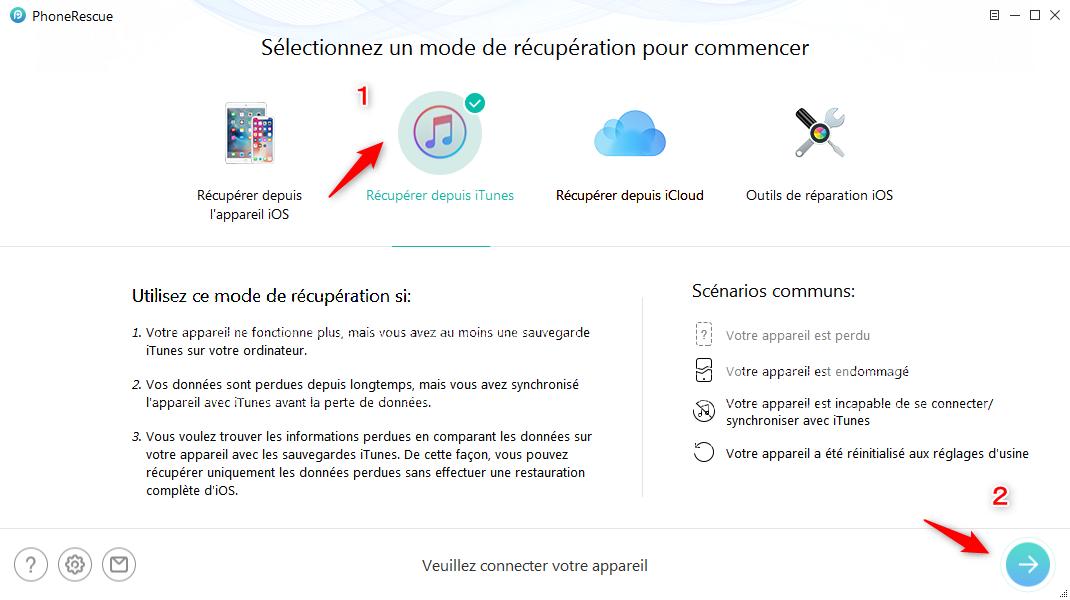 Récupérer rappels depuis iCloud – étape 2