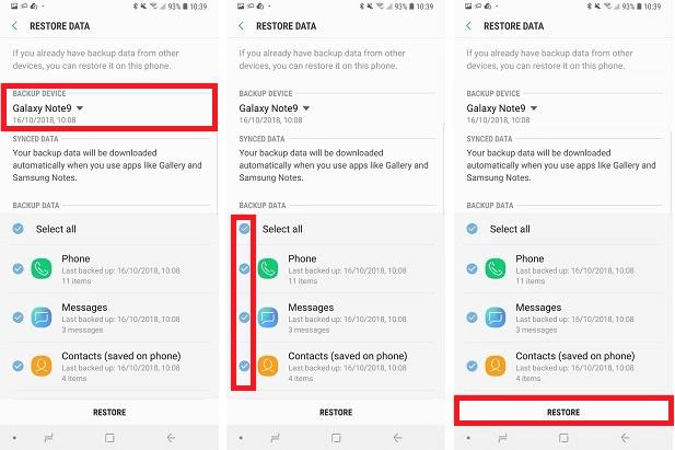 Récupérer messages Samsung