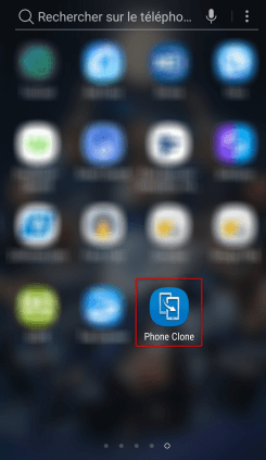 Redémarrage de Phone Clone depuis le menu du téléphone