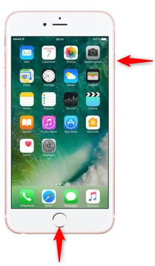 Redémarrage de l'iPhone 6s ou version plus ancienne