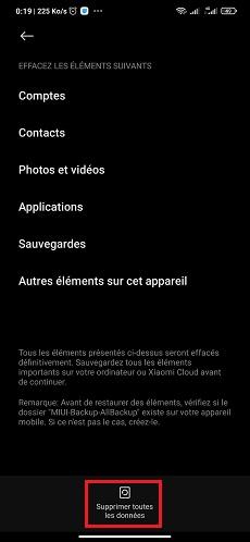 Réinitialiser Android