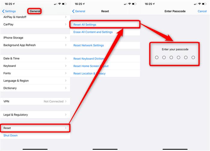 Réinitialiser mot de passe iTunes