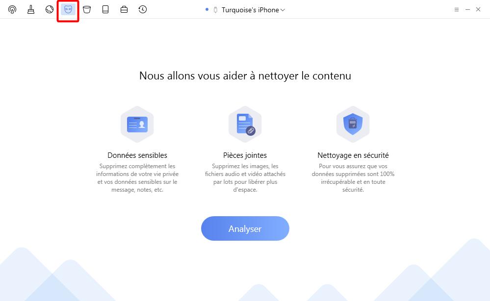 Effacez les données privées avec PhoneClean