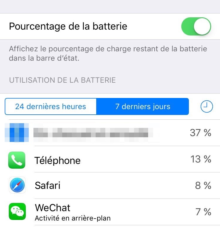 Fermer des apps qui qui tue la batterie de l'iPhone iPad