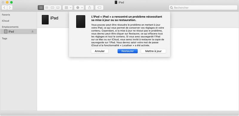 iPad desactivé se connecter a iTunes solution
