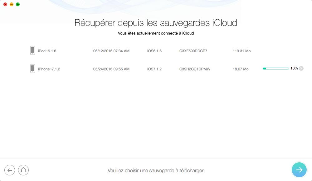 Comment récupérer les messages texte effacés depuis iCloud - étape 2