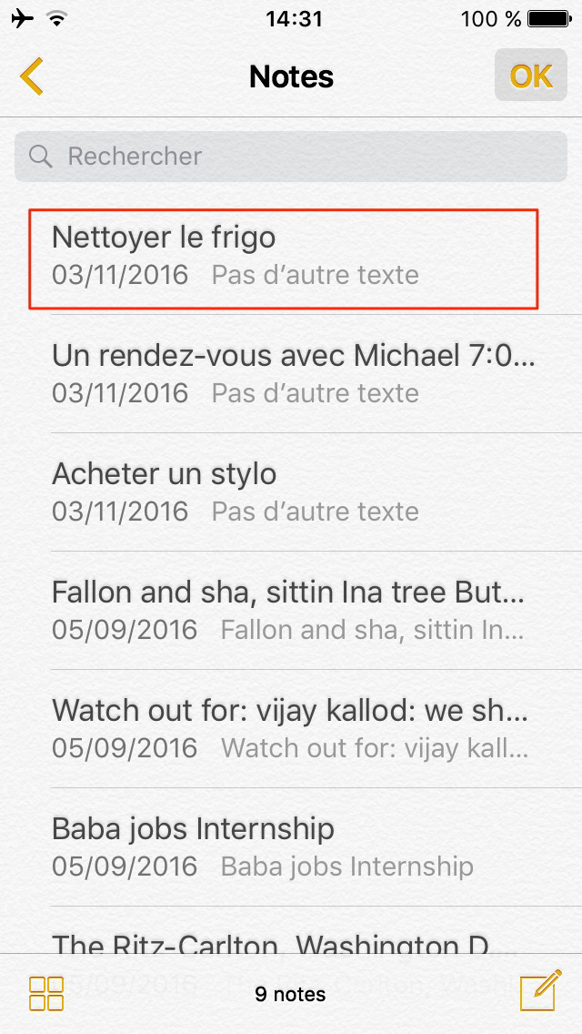Retrouver notes iPhone – étape 4