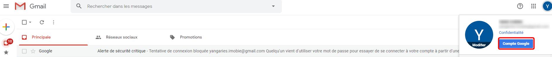 Récupérer les contacts iPhone avec Gmail - étape 1