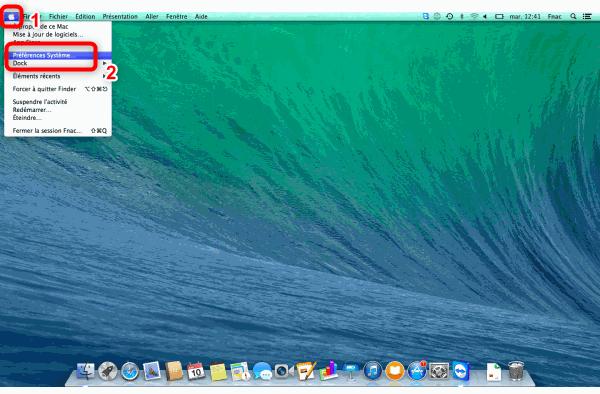 Accès aux préférences système du Mac