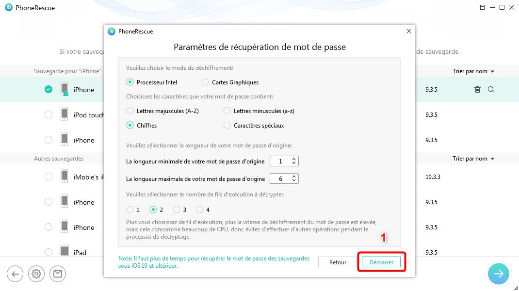 Rapplez-vous les caractéristiques du mot de passe iTunes - étape 3