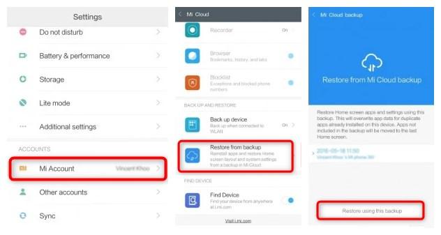 Retrouver les photos supprimées du Xiaomi