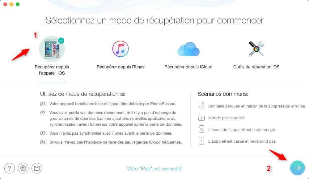 Comment récupérer les vidéos perdues d'iPhone/iPad à l'aide de l'iCloud